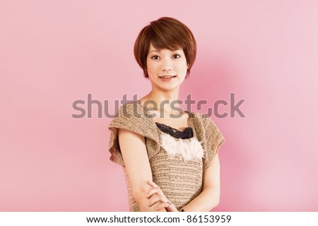 Young beauty woman. Portrait of asian woman.