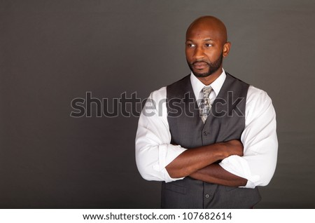 Young black business man wearing a suite and tie