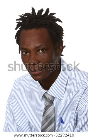 stock photo : Young black business man with dreadlocks hairstyle