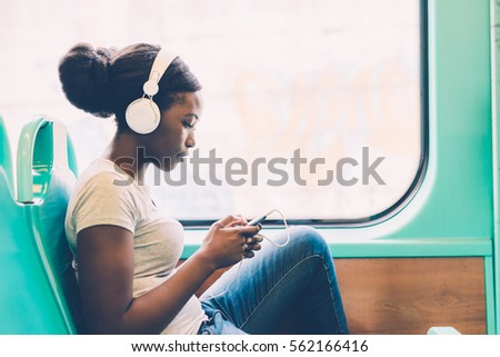 young black woman listening...
