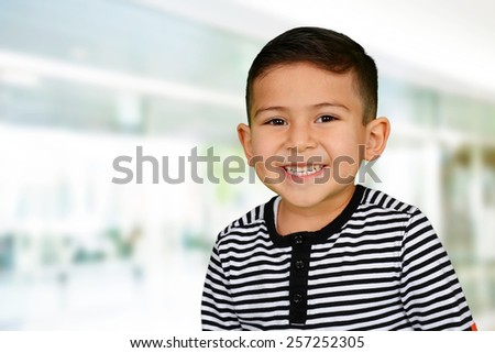 Young boy at school who is smiling #257252305