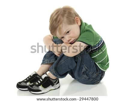 Young Boy feeling Sad