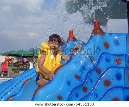 Colorful Water Slide In Water Park Stock Photo 54351133 : Shutterstock