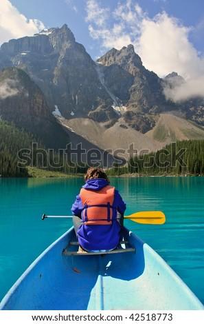 Young boy on Canoe.