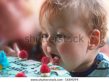 young boy on his first birthday