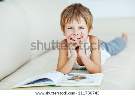 Young boy with book
