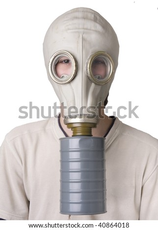 Young boy with the Gas Mask