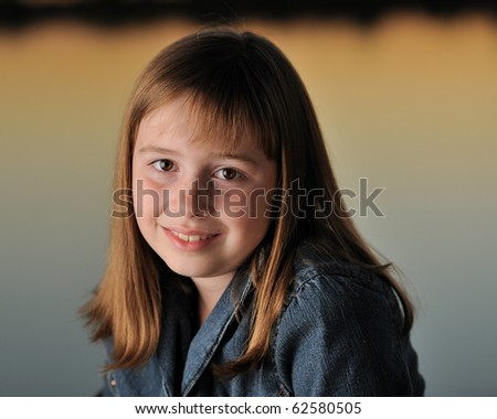 Young brunette girl