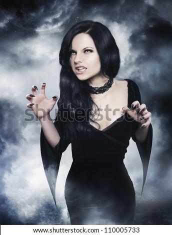 Sexy woman vampire