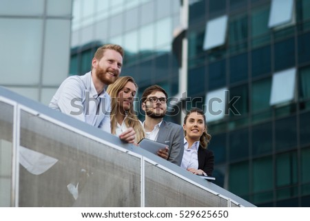 Young business colleagues outdoor #529625650