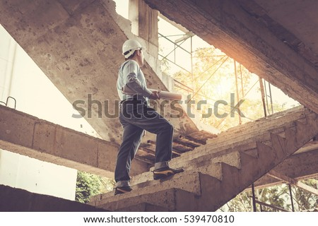 young business man construction site engineer
