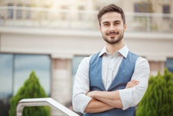 Young business man outdoors work occupation lifestyle