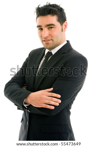 young business man portrait isolated on white