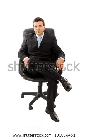Young 2 Business Person Sitting On The Chair Stock Photo 57298039