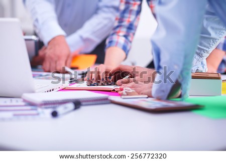 Young business people working at office on new project #256772320