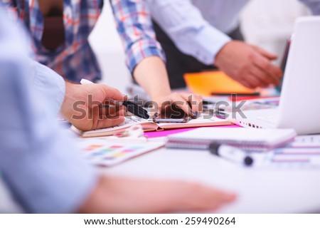 Young business people working at office on new project #259490264