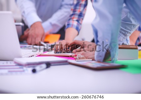 Young business people working at office on new project #260676746