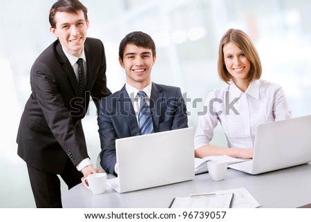 Young business team at the office