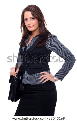 Young Business Woman with a handcase