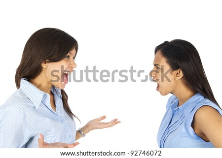 Young business women arguing.