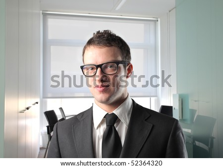 Young businessman at the office