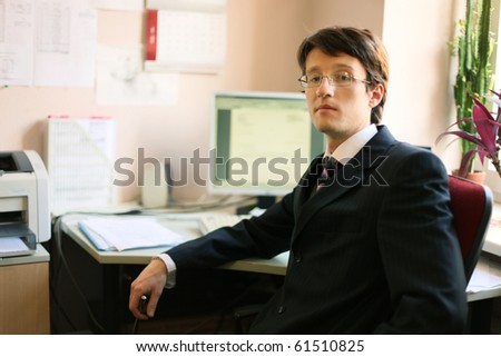 young businessman at work