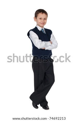 young businessman boy isolated
