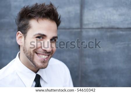 Young businessman close portrait