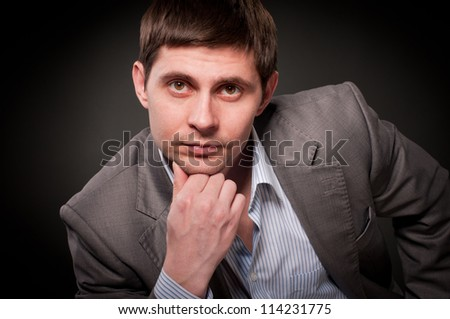 Young businessman, close-up