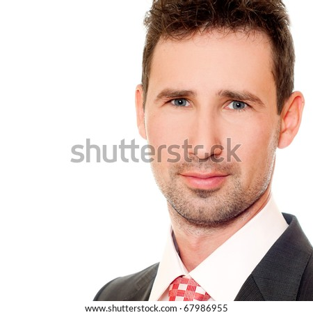 Young businessman  in  the suit