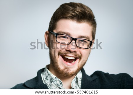 young businessman rejoices victory, stylish , close-up manager - Shutterstock ID 539401615