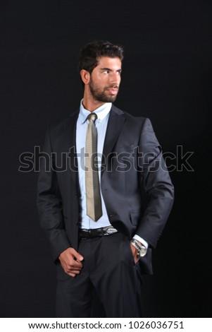 young businessman wear suit #1026036751