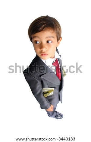 Young Businessman with money in the pockets...