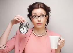 Young businesswoman having a coffee-break