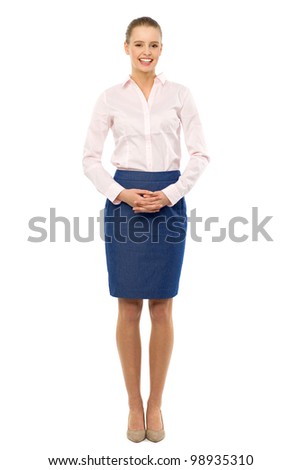 Young businesswoman standing
