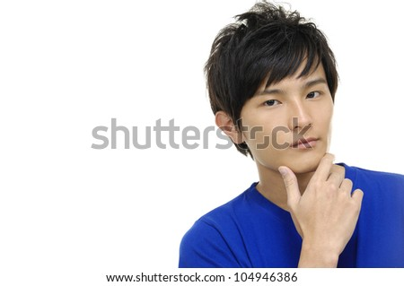 young casual asian man
