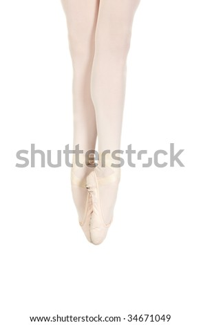 Young caucasian ballerina girl on white background showing various ballet steps and positions. Not Isolated