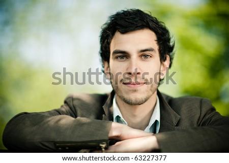 young caucasian man portrait