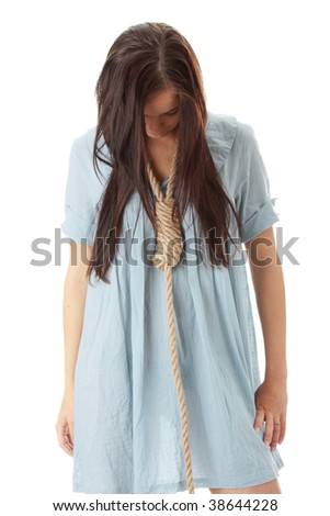 Women Hanged by the Neck http://www.shutterstock.com/pic-38644228/stock-photo-young-caucasian-woman-going-to-be-hanged.html