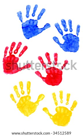 Young Child Hand Prints