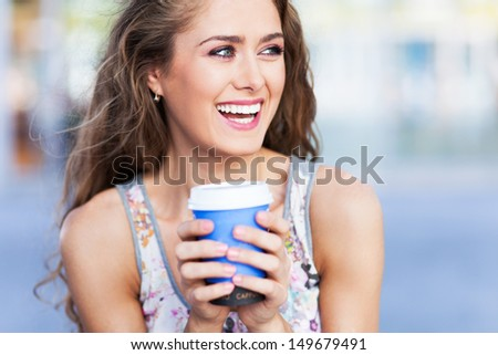 Young coffee drinker
