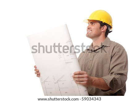 Young construction worker excited to start work on a new project