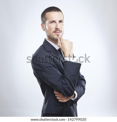 young cool businessman portrait