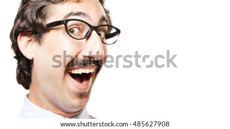 young cool man showing - Shutterstock ID 485627908