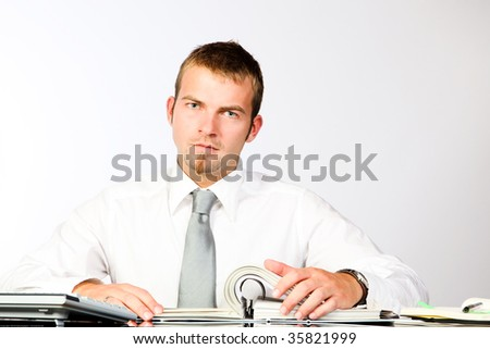 Young Corporate Man Working In The Office - stock photo