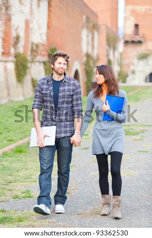 Young Couple at College #93362530