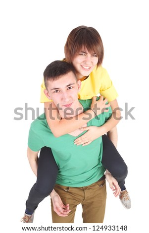 young couple having good time
