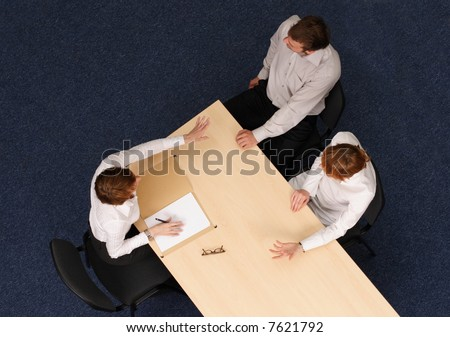 Young couple having psychotherapy,Aerial shot taken from directly above the table