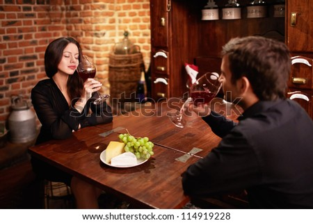Young couple in a restaurant