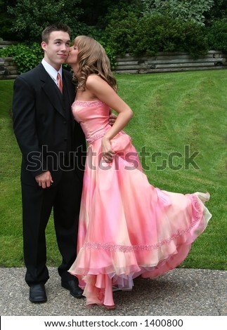 Young couple in formal wear